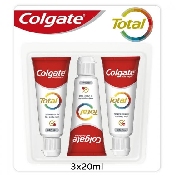 Dentífrico Colgate Total pack de 3 unidades de 20 ml.  - 5