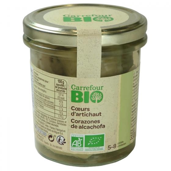 Corazones de alcachofas 5/8 ecológicos Carrefour Bio 200 g. - 1