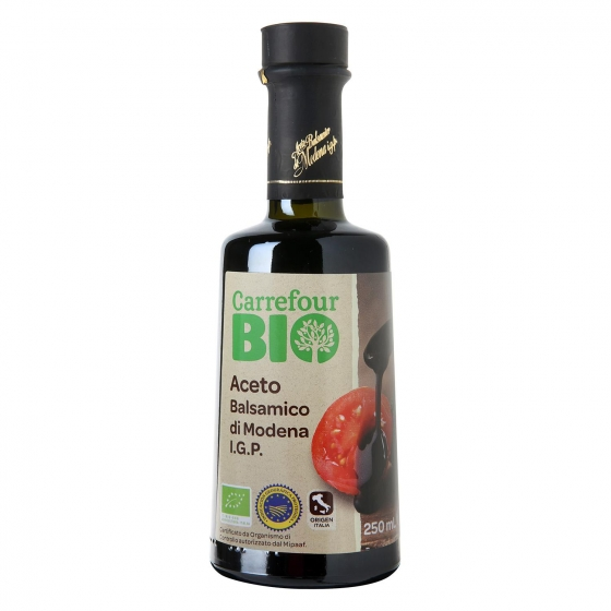 Vinagre balsámico de módena ecológico Carrefour Bio 250 ml.