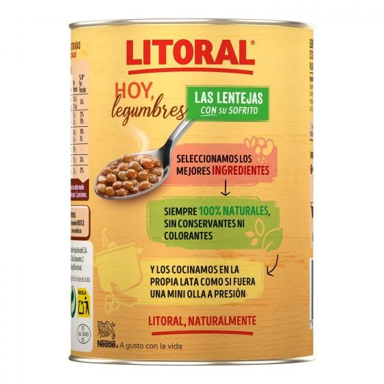 Lentejas de la abuela Litoral sin gluten 435 g. - 1