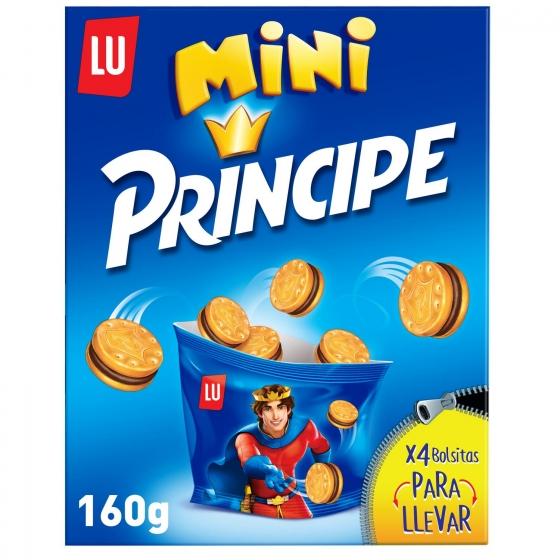 Galletas rellenas de crema de chocolate Mini Príncipe 160 g.