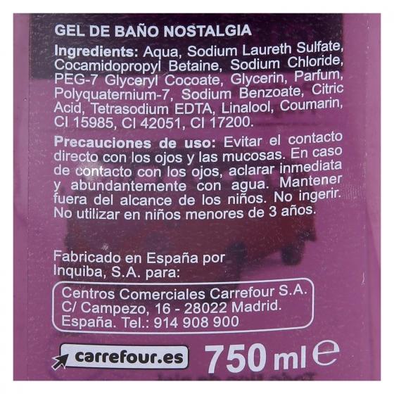 Gel de ducha Nostalgia Carrefour 750 ml. - 1