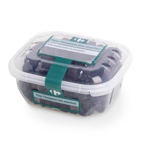 Pasa thompson (sin semilla) Carrefour tarrina 300 g - 1