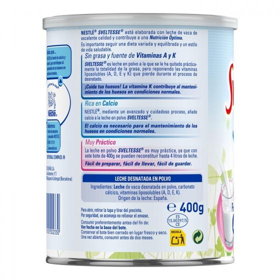 Leche en polvo desnatada Nestlé - Sveltesse 400 g. - 1