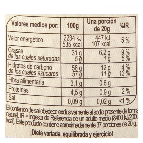 Crema de cacao y avellanas sin gluten Carrefour 750 g. - 4