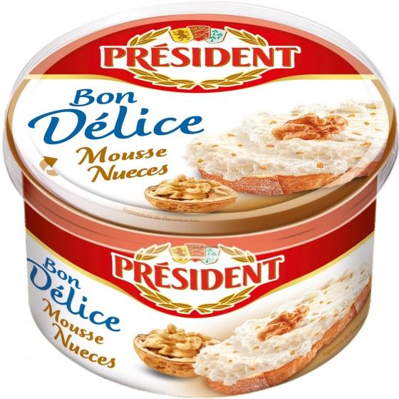 Mousse de queso y nueces Rondelé Président 125 g.