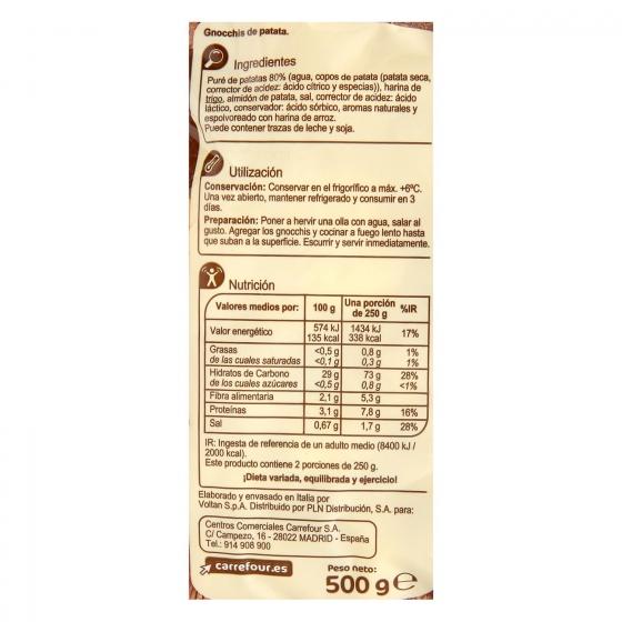 Gnocchi de patata Carrefour 500 g. - 1