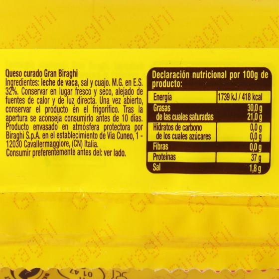 Tacos de queso curado Gran Biraghi Hispano Italiana 250 g - 4