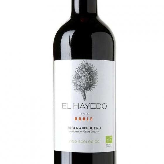 Vino D.O. Ribera del Duero tinto roble ecológico El Hayedo 75 cl. - 1