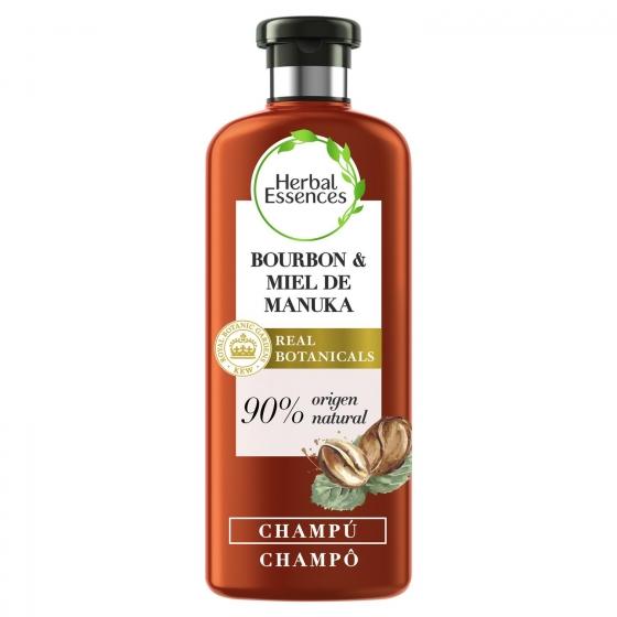 Champú repara bourbon & miel de manuka Herbal Essence 400 ml.