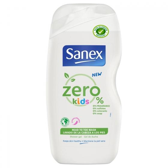 Gel de ducha niños zero 0% para cuerpo y cabello 500 ml.