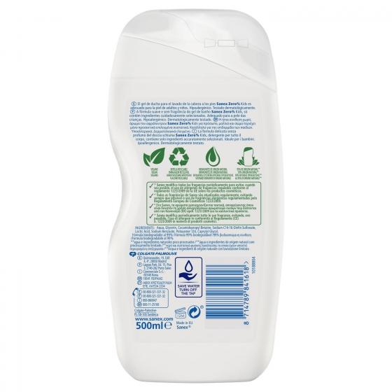 Gel de ducha niños zero 0% para cuerpo y cabello 500 ml. - 3