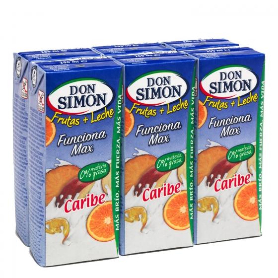 Zumo de fruta y leche Don Simón Caribe pack de 6 briks de 20 cl.