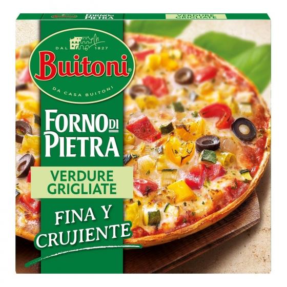 Pizza vegetal fina y crujiente Forno di Pietra Buitoni 370 g.