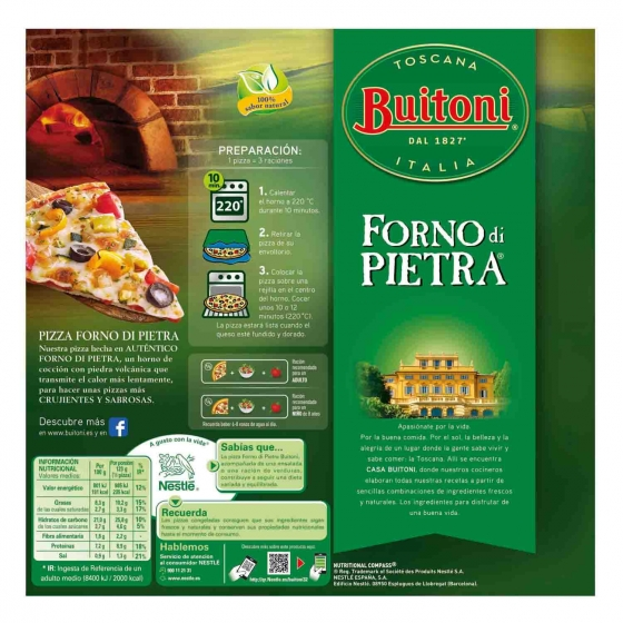 Pizza vegetal fina y crujiente Forno di Pietra Buitoni 370 g. - 3