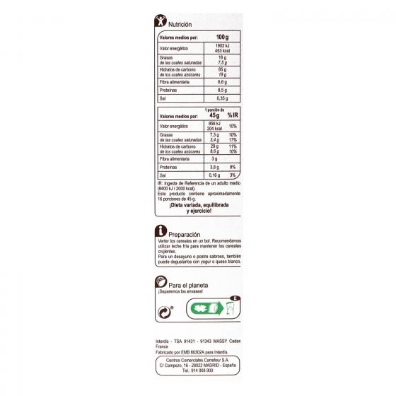 Cereales crujientes con chocolate Muesli Carrefour 750 g. - 3