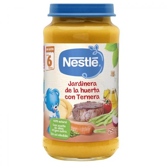Tarrito de verduras jardinera con ternera desde 6 meses sin sal añadida Nestlé sin gluten 250 g. - 3