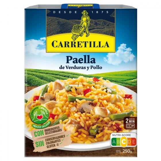 Paella de verduras y pollo Carretilla 250 g.