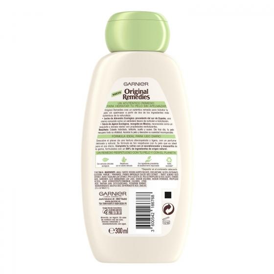 Champú hidratante leche de almendra nutritiva Garnier 300 ml. - 1