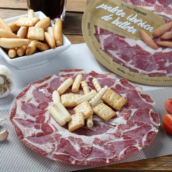 Paleta ibérica de bellota en plato Señorío de Olivenza 126 g - 1