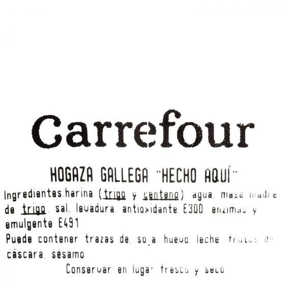 Hogaza de pan gallega Hecho aquí Carrefour 600 g - 1