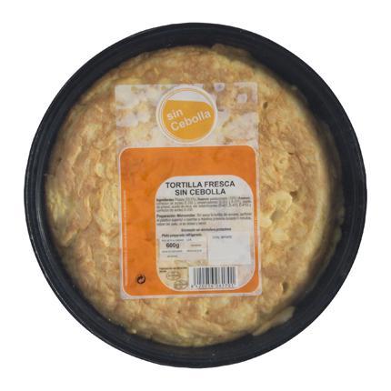 Tortilla de patata sin cebolla 600 g - 1