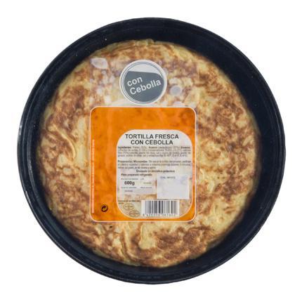 Tortilla de patata con cebolla 600 g - 1