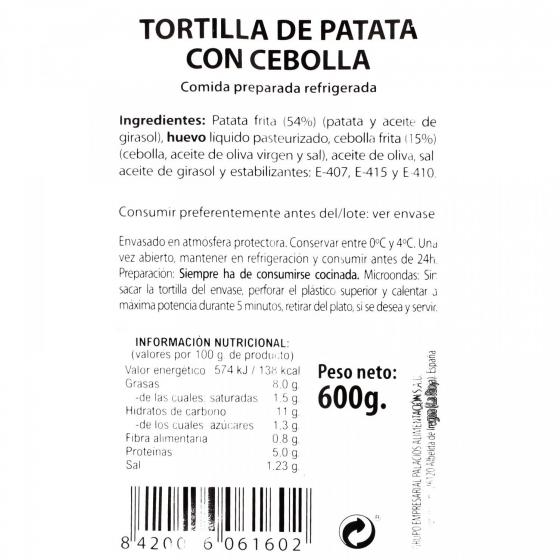 Tortilla de patata con cebolla 600 g - 3