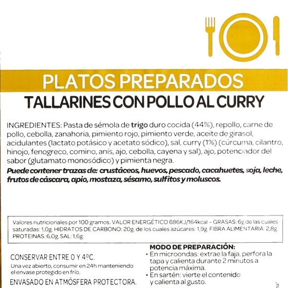 Tallarines con Pollo al curry Ta-Tung 300 g - 1