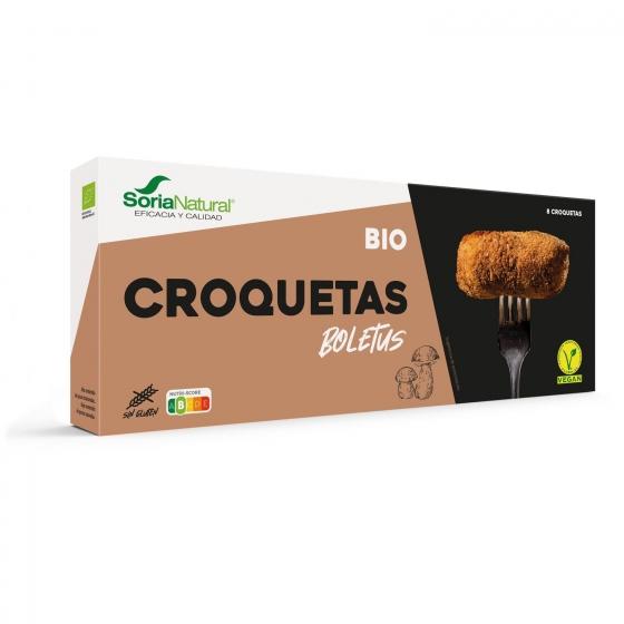 Croquetas de Boletus ecológicas Soria Natural sin gluten y sin lactosa 250 g.