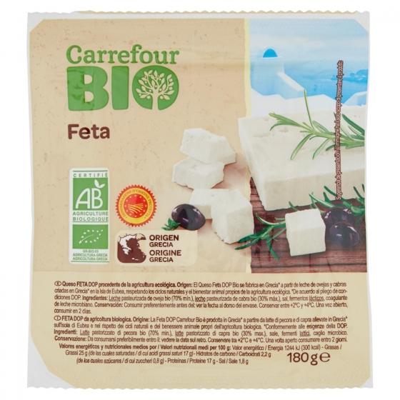Queso feta ecológico Carrefour 180 g.