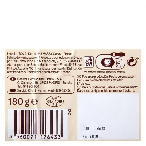 Queso feta ecológico Carrefour 180 g. - 1