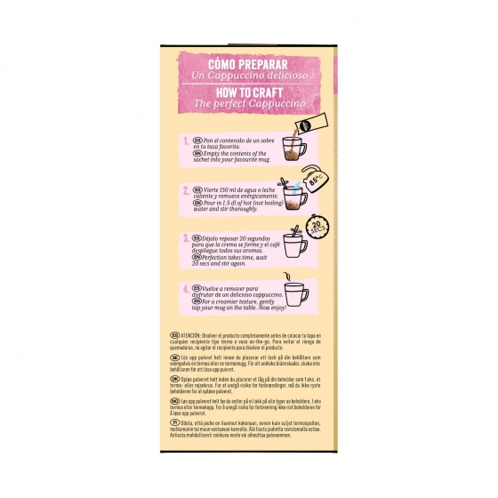 Café soluble mocha blanco en sobres Nescafé 8 unidades de 15 g. - 1