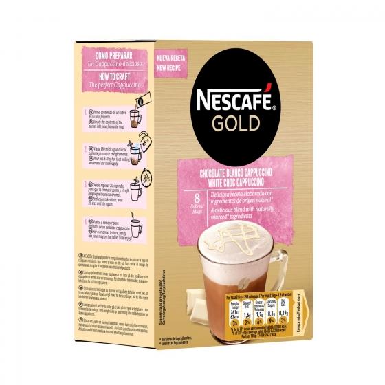 Café soluble mocha blanco en sobres Nescafé 8 unidades de 15 g. - 3