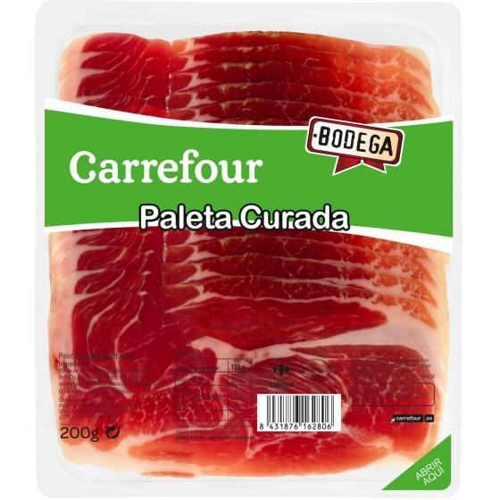 Paleta curada en lonchas Carrefour sin gluten 200 g.