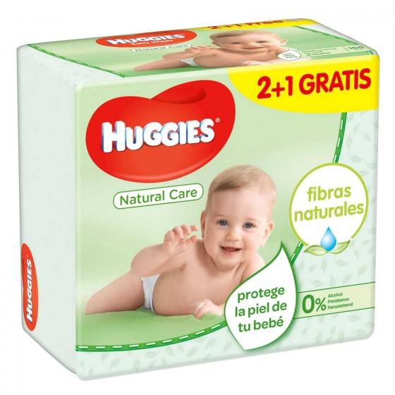 Toallitas para bebé Natural Care Huggies 168 toallitas