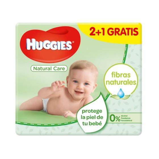 Toallitas para bebé Natural Care Huggies 168 toallitas - 1