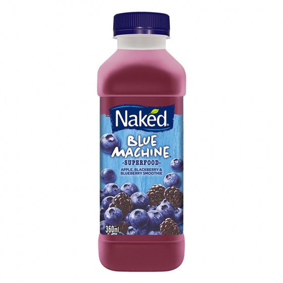 Smoothie Blue Machine Naked botella de 36 cl.