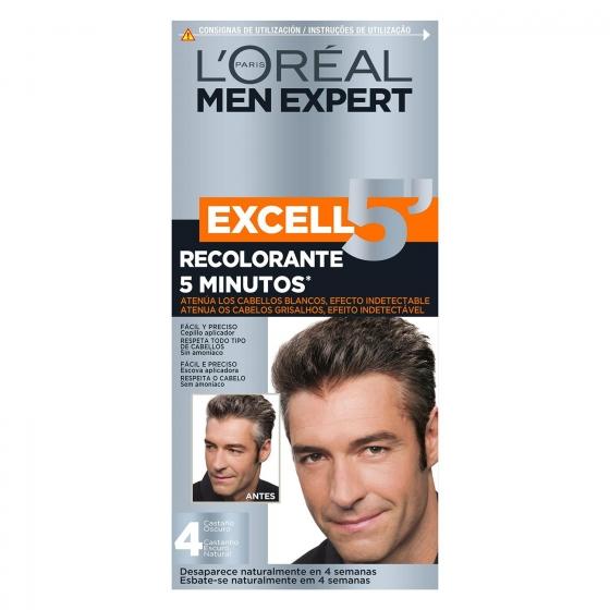 Tinte recolorante Excell 5 min. nº 4 castaño oscuro L'Oréal Men Expert 1 ud.