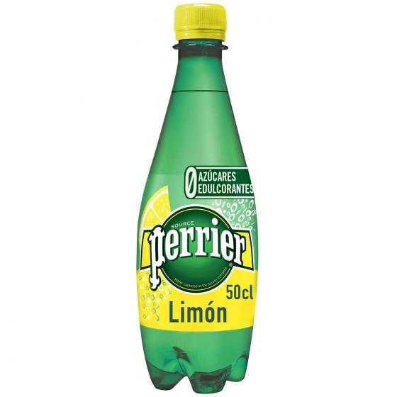 Agua mineral con gas Perrier natural sabor limón 50 cl.