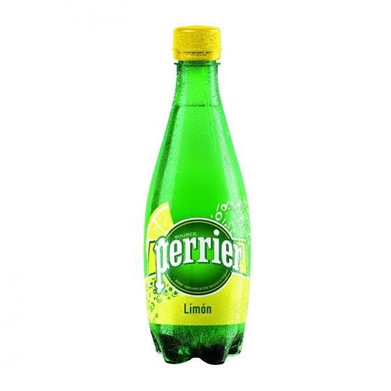 Agua mineral con gas Perrier natural sabor limón 50 cl. - 1