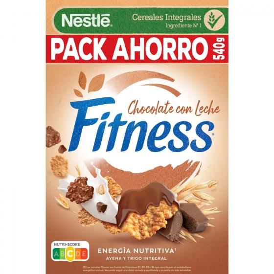 Cereales integrales con chocolate con leche Fitness Nestlé 600 g.