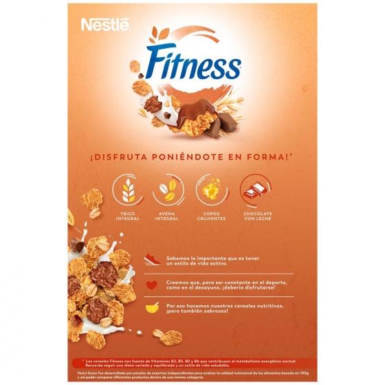 Cereales integrales con chocolate con leche Fitness Nestlé 600 g. - 1