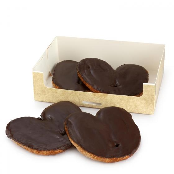Palmeras de hojaldre de chocolate Carrefour 4 ud
