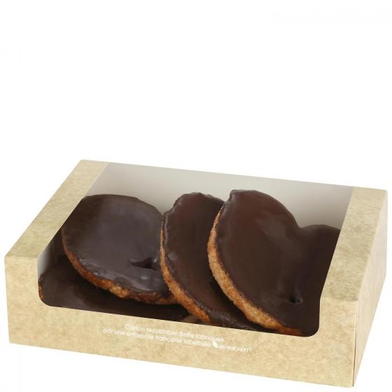 Palmeras de hojaldre de chocolate Carrefour 4 ud - 1