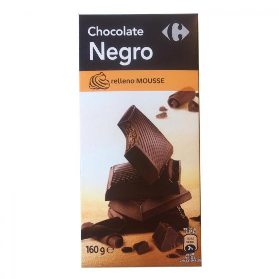 Chocolate negro relleno de mousse Carrefour 160 g.