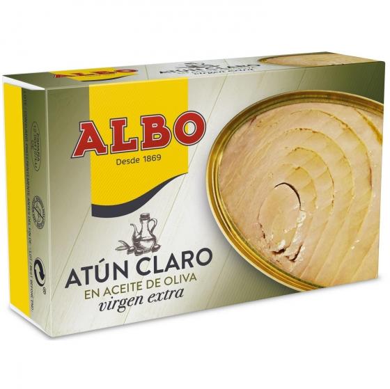 Atún claro en aceite oliva virgen extra Albo 82 g.