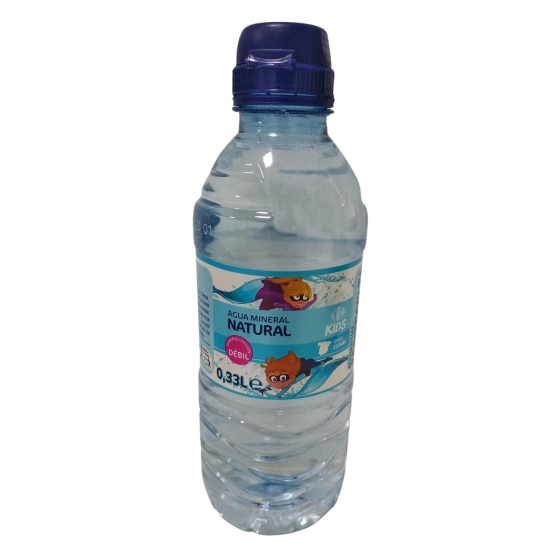 Agua mineral Carrefour Kids natural 33 cl.