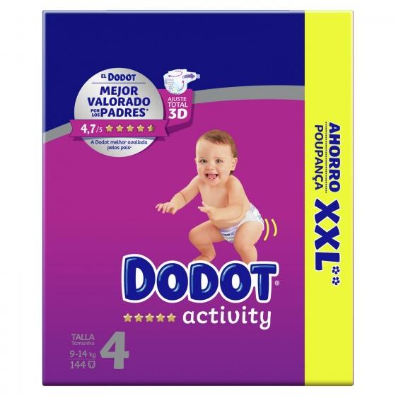 Pañales Dodot Activity box XXL T4 (9kg-14kg.) 144 ud.