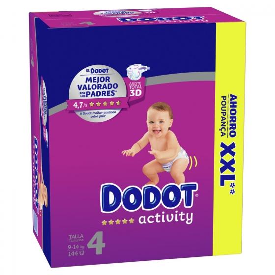 Pañales Dodot Activity box XXL T4 (9kg-14kg.) 144 ud. - 1